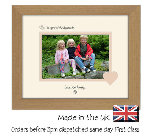 Godparents Photo Frame - To a Special Godparents ... Love you Always Landscape photo frame 6