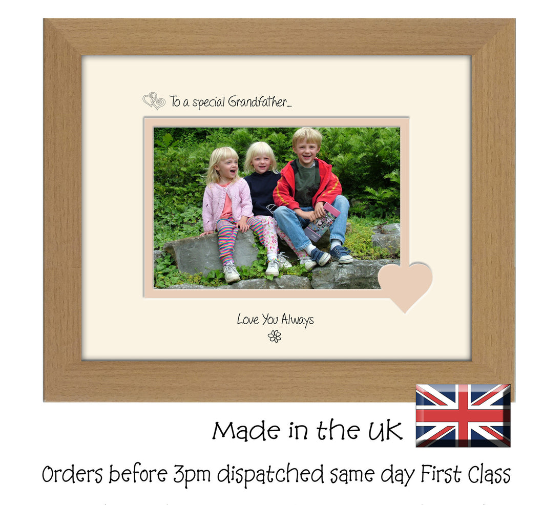 Grandfather Photo Frame - To a Special Grandfather ... Love you Always Landscape photo frame 6