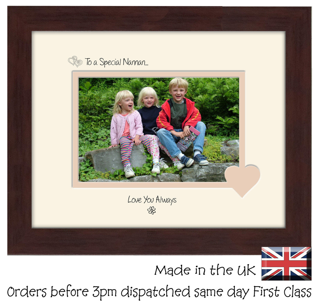 Nannan Photo Frame - To a Special Nannan... Love you Always Landscape photo frame 6