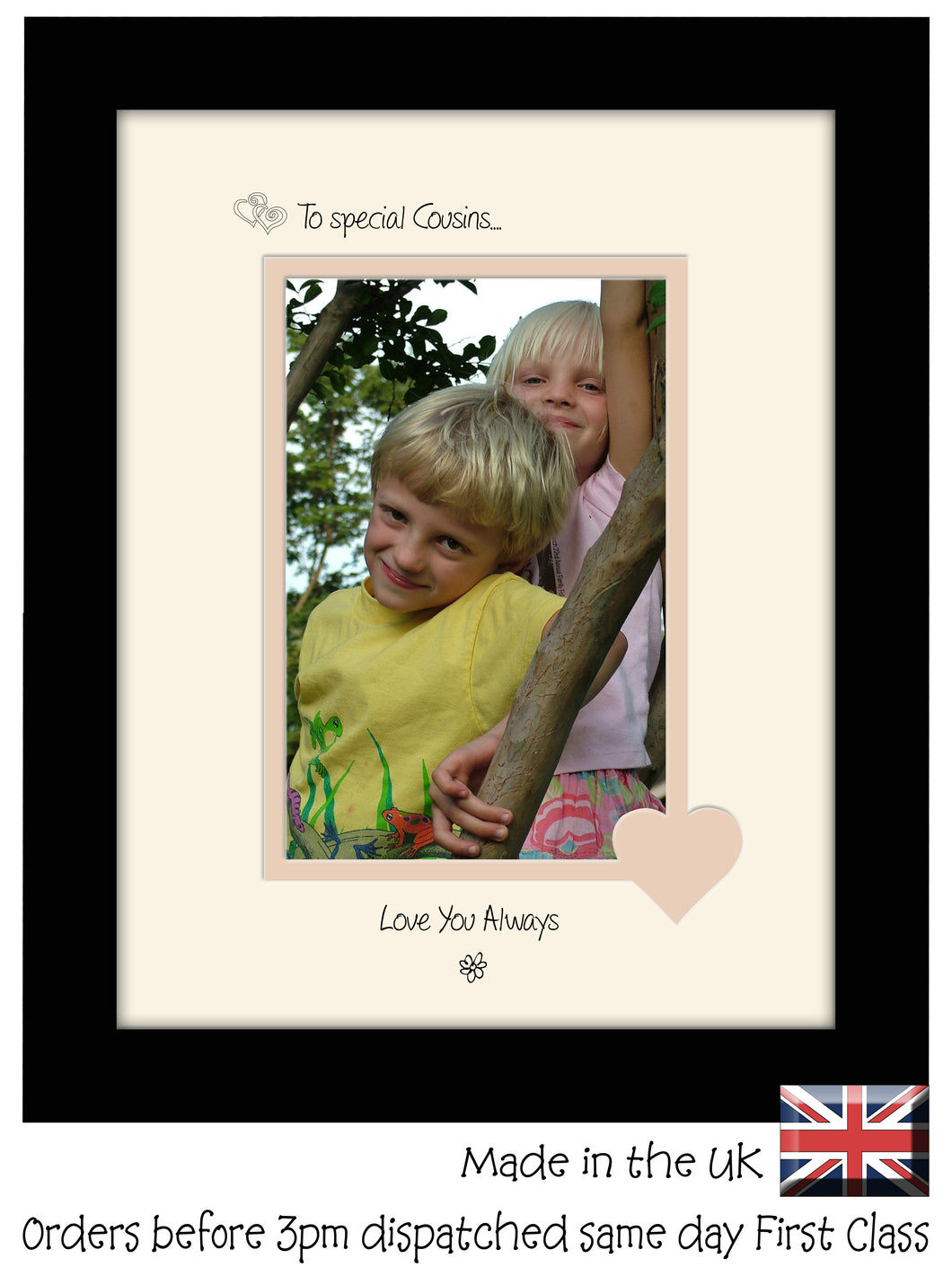 Cousins Photo Frame - To a Special Cousins ... Love you Always Portrait photo frame 6