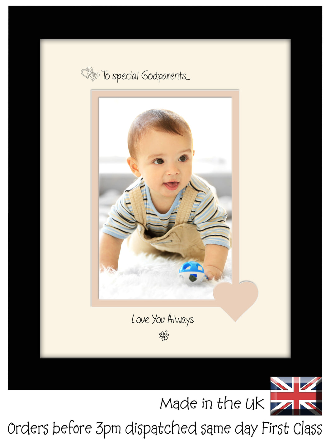 Godparents Photo Frame - To a Special Godparents ... Love you Always Portrait photo frame 6