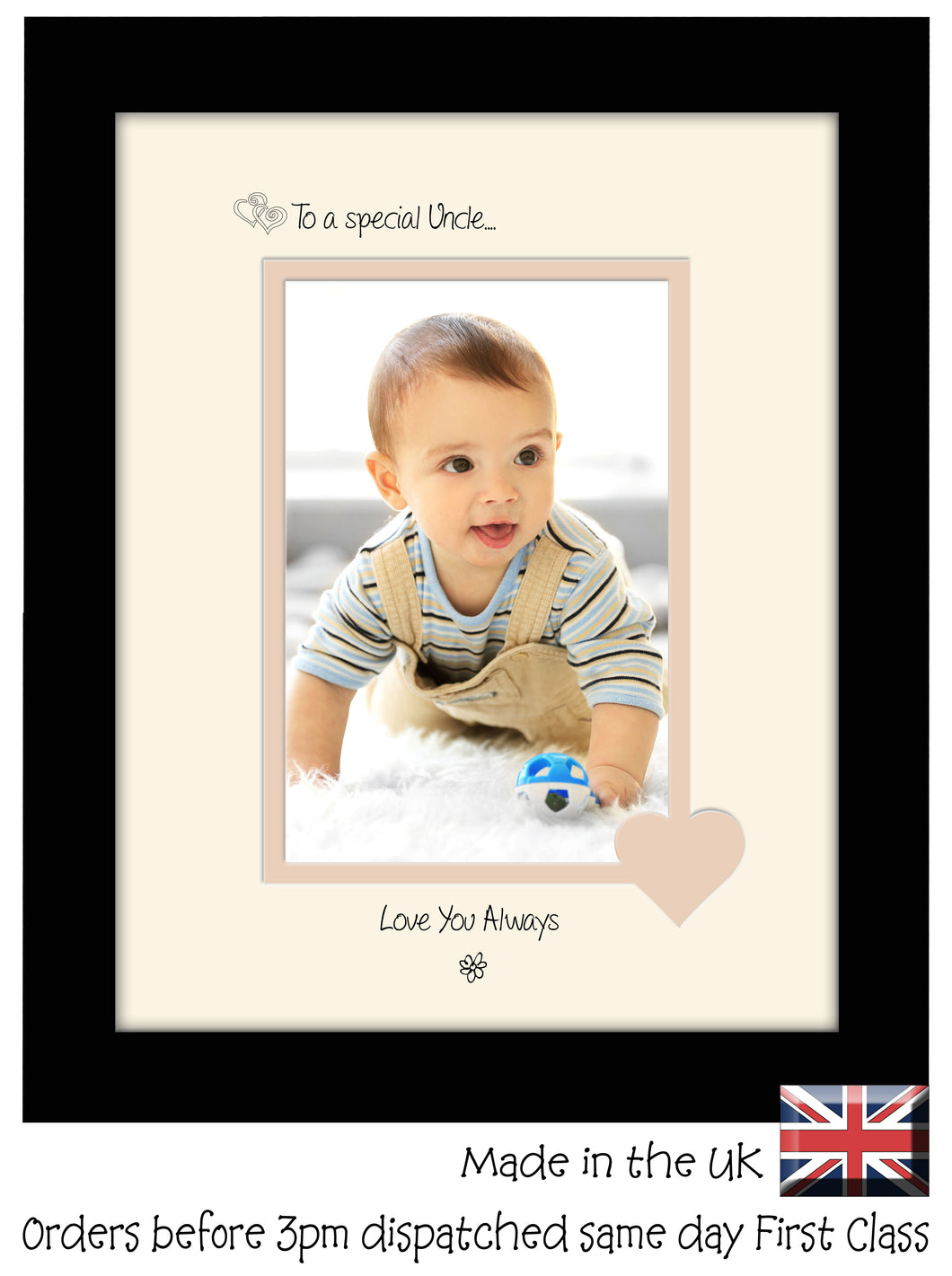 Uncle Photo Frame - To a Special  Uncle Love you always Portrait 6