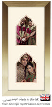 "6""x4"" Double Photo Taj Mahal Inspired Quality Photo Frame Ready Made x2 6""x4"" portrait photos Double Mounted 996X PT-PTPH mount size 415mm x 185mm , Choices of frames & Borders"