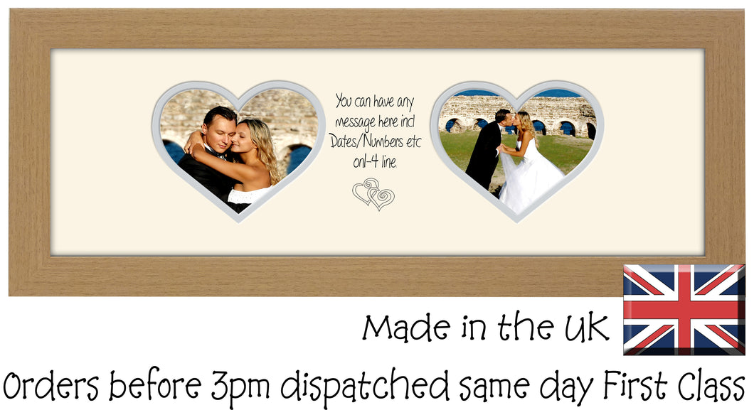 Personalised Two Hearts Photo Frame 6