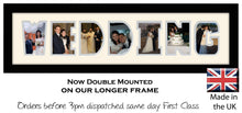 Wedding Photo Frame - Wedding Word Photo Frame 12DD 640mm x 151mm mount size  , Choices of frames & Borders
