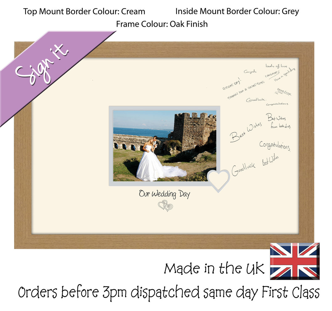 Wedding Photo Frame for Signing Signature for Guest Takes 7