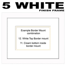 "6""x4"" Corner Hearts Plain Photo Frame Double Mounted 6""x4"" photo 956G 210mm x 297mm mount size A4  , Choices of frames & Borders"