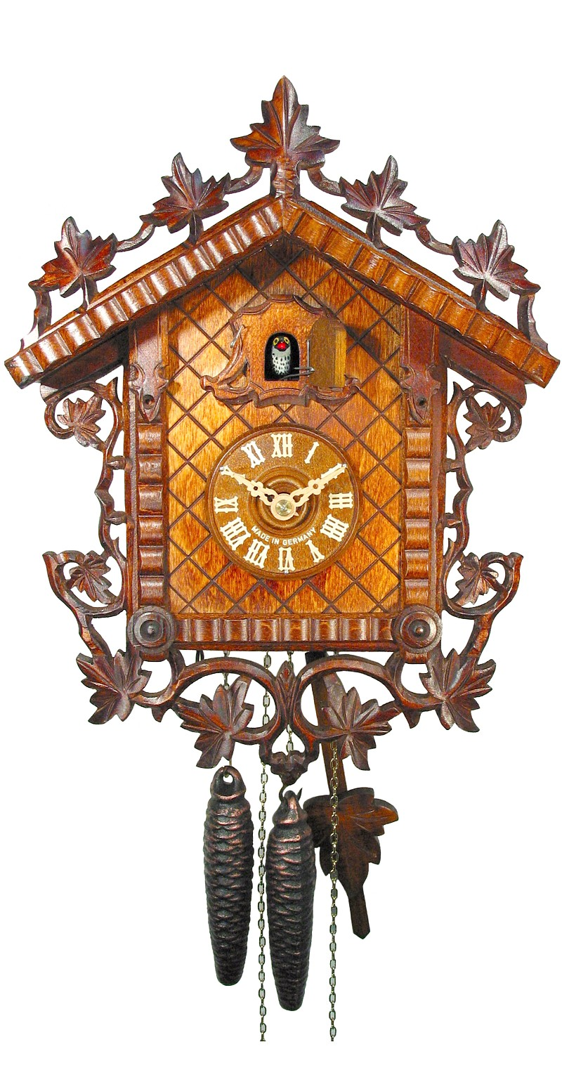 Cuckoo Clock 1885 Replication Rail Station Clock 1-Day Movement - Cuckoo Clock Meister