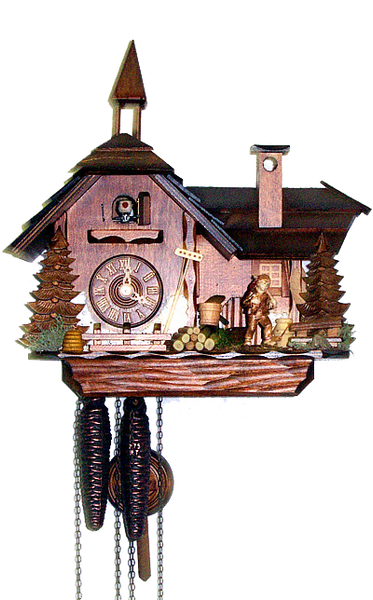 Cuckoo Clock Little Mill House 1-Day Movement August Schwer - Cuckoo Clock Meister