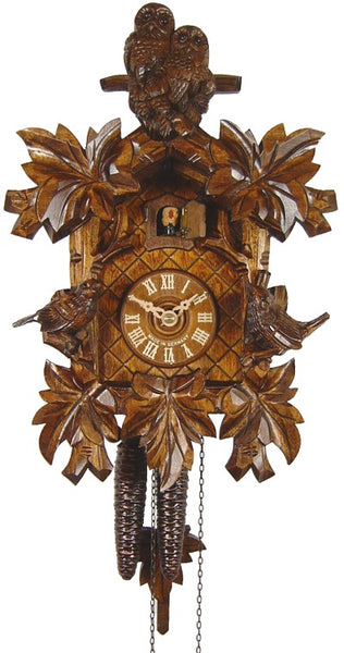 Cuckoo Clock with Two Owls 1-Day Movement by August Schwer - Cuckoo Clock Meister