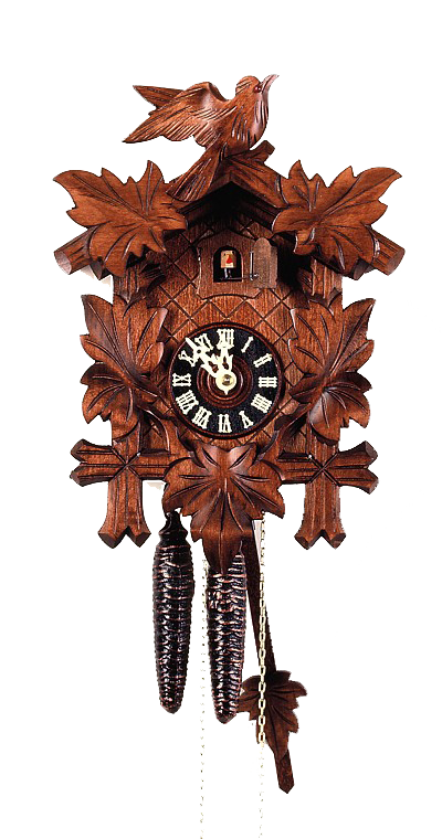 Cuckoo Clock 5 Leaves and Bird 8-Day Movement by August Schwer