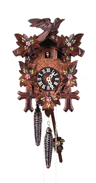 Cuckoo Clock 5 Leaves and Bird 8-Day Movement August Schwer - Cuckoo Clock Meister