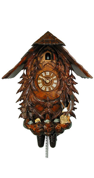 Cuckoo Clock Black Forest House with Eagle 8-Day Movement