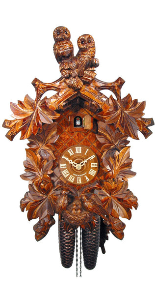 Cuckoo Clock Two Owls and Nest 8-Day Movement - Cuckoo Clock Meister