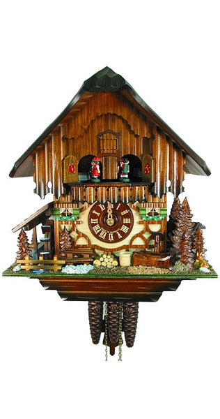 Cuckoo Clock Black Forest House with Deer 1-Day Movement with Music