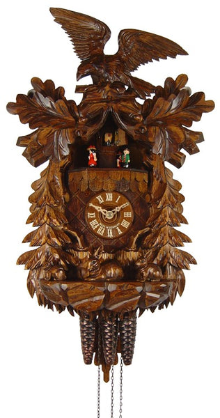 Cuckoo Clock Eagle and Rabbit Family 1-Day Movement with Music - Cuckoo Clock Meister