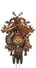 Cuckoo Clock Hunting Clock Deer Head 8-Day Movement Music - Cuckoo Clock Meister