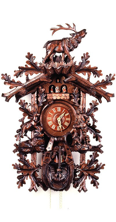Cuckoo Clock Hunter, Chamois and Deer 8-Day Movement with Music - Cuckoo Clock Meister