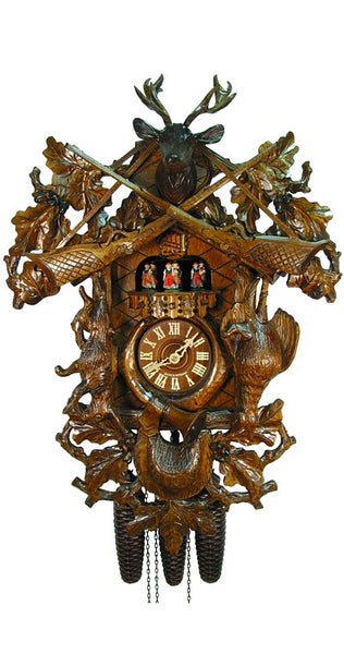 Cuckoo Clock Antique Hunting Clock 8-Day Movement with Music - Cuckoo Clock Meister