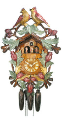 Cuckoo Clock Bird Couple in Garden 8-Day Movement with Music - Cuckoo Clock Meister