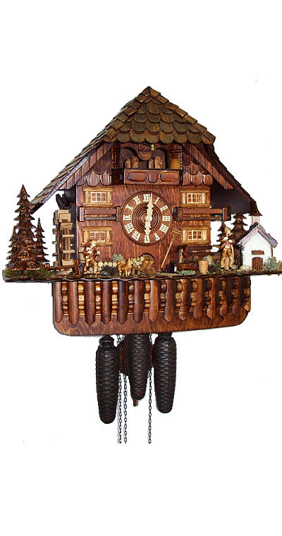 Cuckoo Clock Black Forest House with Chapel 8-Day Movement with Music - Cuckoo Clock Meister