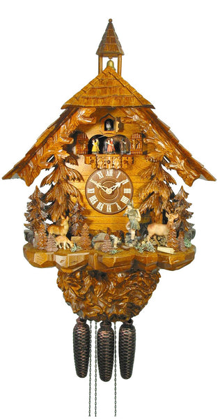 Cuckoo Clock Black Forest House 8-Day Movement with Music - Cuckoo Clock Meister