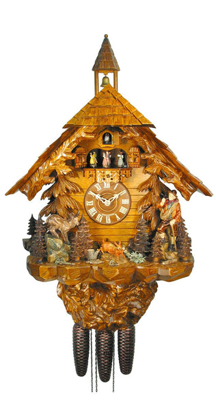 Cuckoo Clock Black Forest Forest House 8-Day Movement with Music - Cuckoo Clock Meister