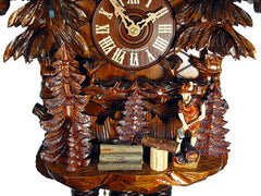 Cuckoo Clock Black Forest House with Lumberjack 8-Day with Music