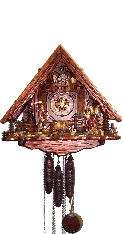 Cuckoo Clock Black Forest Farm House 8-Day Movement with Music - Cuckoo Clock Meister