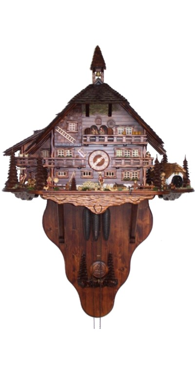 Cuckoo Clock Big Black Forest House 8-Day Movement with Music - Cuckoo Clock Meister