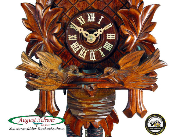 Cuckoo Clock Four Leaves and Birds 1-Day Movement