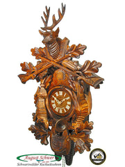 Cuckoo Clock Hunting Clock with Hanging Animals 8-Day Movement