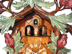 Cuckoo Clock Bird Couple in Garden 8-Day Movement with Music
