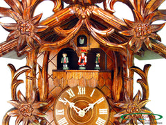 Cuckoo Clock Edelweiss and Ibex 8-Day Movement with Music