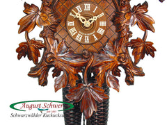 Cuckoo Clock 15 Leaves 2 Birds 8-Day Movement by August Schwer