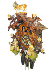 Cuckoo Clock Cattle Drive 8-Day Movement with Music By August Schwer