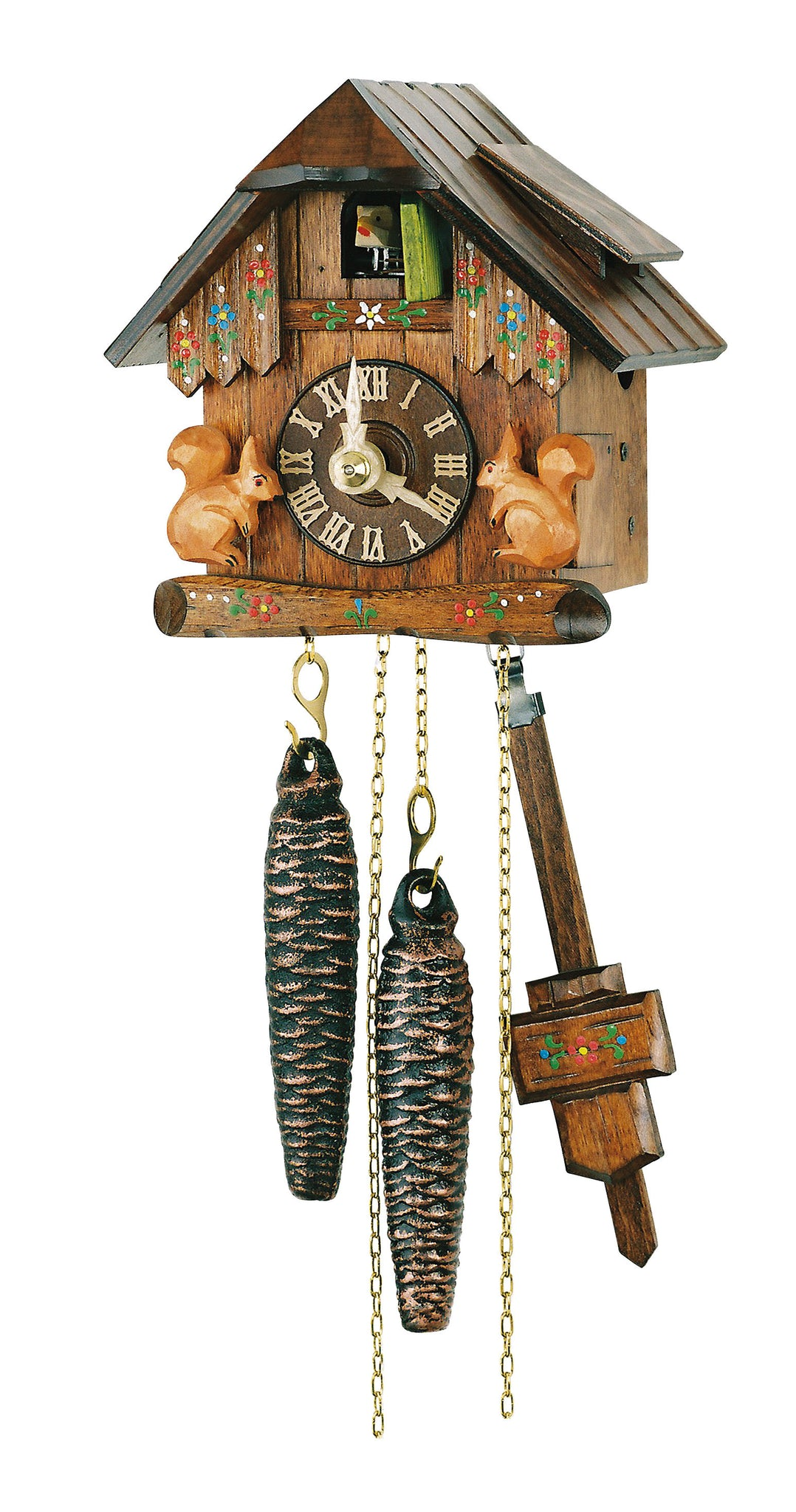 Cuckoo Clock Little Black Forest House with Squirrels 1-Day Movement - Cuckoo Clock Meister