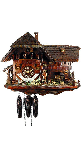 Cuckoo Clock Mill House 8-Day Movement with Music - Cuckoo Clock Meister