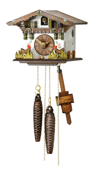Cuckoo Clock Black Forest House with Moving Chickens by Hubert Herr - Cuckoo Clock Meister