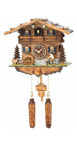 Quartz Cuckoo Clock Black Forest House Wood Chopper with Music - Cuckoo Clock Meister