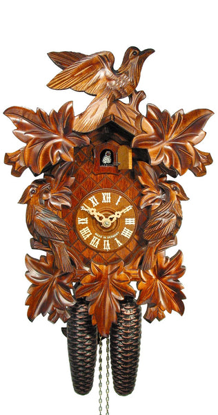 Cuckoo Clock Seven Leaves and Three Birds 8-Day Movement - Cuckoo Clock Meister