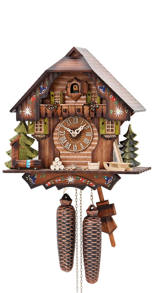 Cuckoo Clock Black Forest House 8-Day Movement By Hekas