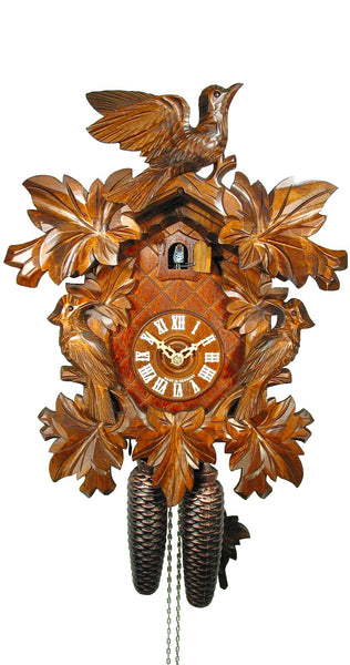Cuckoo Clock Seven Leaves Three Birds 8-Day Movement - Cuckoo Clock Meister