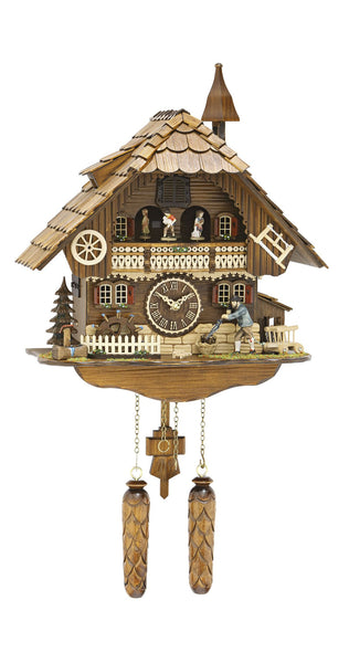 Quartz Cuckoo Clock Moving Dancers Wanderer Mill Wheel - Cuckoo Clock Meister