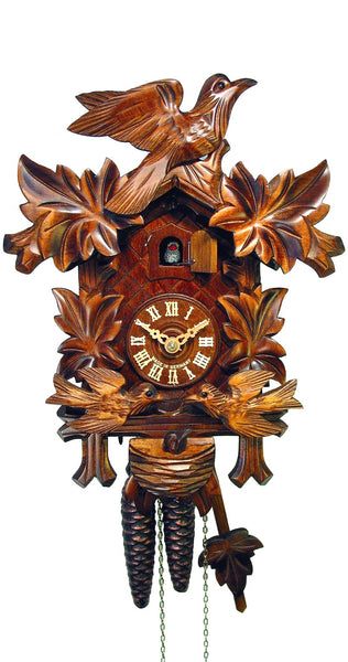 Cuckoo Clock Four Leaves and Birds 1-Day Movement - Cuckoo Clock Meister