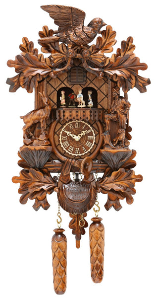 Quartz Hunting Cuckoo Clock with Moving Dancers and Music