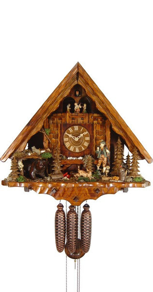 Cuckoo Clock of the Year 2008 Hunting Lodge 8-Day Movement Music - Cuckoo Clock Meister