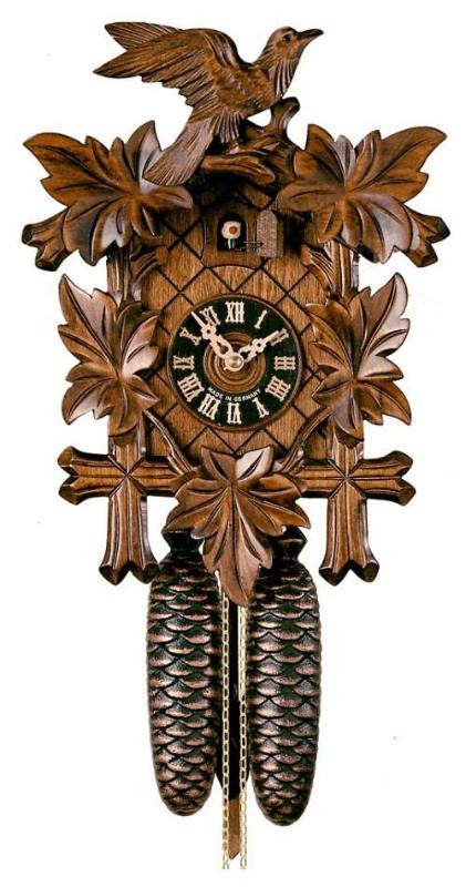 Cuckoo Clock with Five Leaves & Bird 8-Day Movement by Hönes - Cuckoo Clock Meister