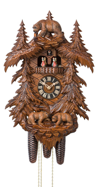 Cuckoo Clock Three Bears in Forest by Hönes - Cuckoo Clock Meister