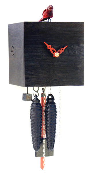 Modern Bamboo Cuckoo Clock in Black 1 Day Movement - Cuckoo Clock Meister